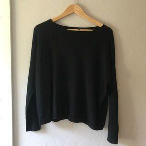 Eileen Fisher wide neck merino wool sweater   xs